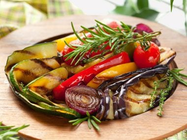 Grill veggies or fruit.