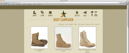Support Our Troops: Wear Our Boots
