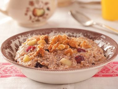 Warm and Fruity Breakfast Cereal
