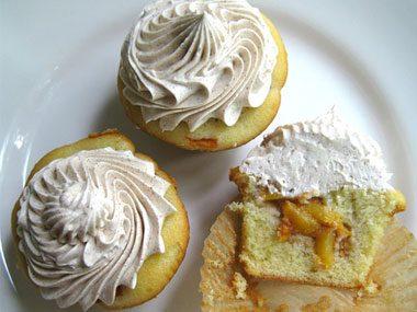 Peach Cobbler Cupcake