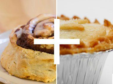 foodie things for fall, cinnamon bun and pie crust