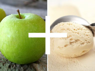 foodie things for fall, apple and ice cream