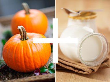 foodie things for fall, pumpkin and yogurt