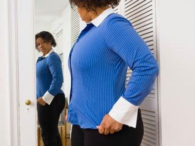 healthy habits weight control quiz, mirror