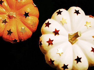 pretty bitty pumpkins with star stickers