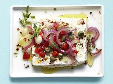 Baked Feta with Capers and Tomatoes