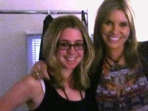 The wonderful Grace Potter (left) and I.