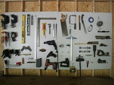 homemade gift ideas, pegboard workshop