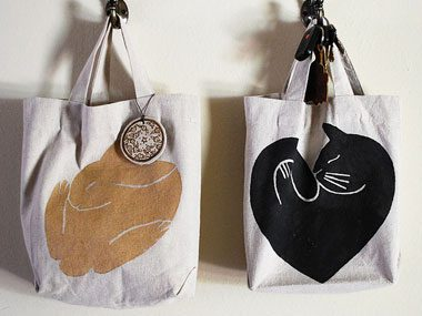 homemade gift ideas, tote bags