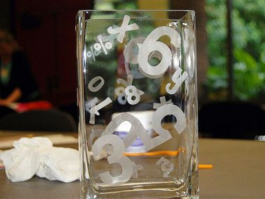 homemade gift ideas, etched glass
