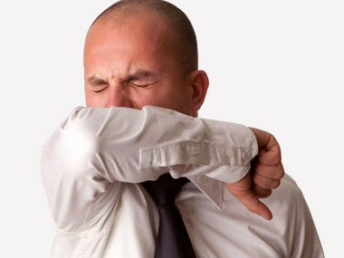 how germ experts stay healthy, elbow sneeze