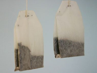 3. Soothe puffy eyes with teabags