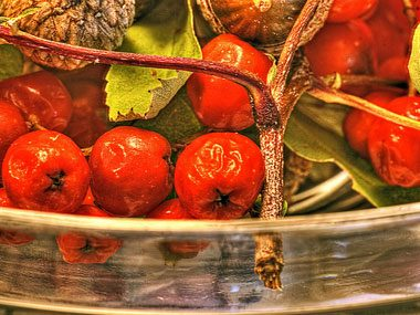 make a fall centerpiece, berries