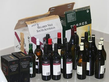 ornament storage tips, wine boxes