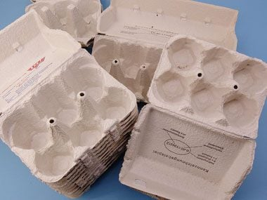 ornament storage tips, egg cartons