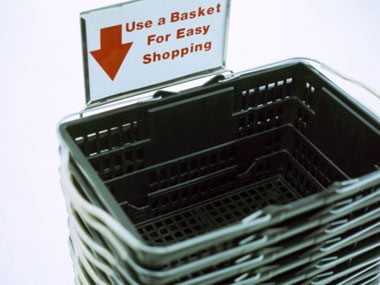 2. If you can, skip the shopping cart altogether, or at least carry a smaller basket.