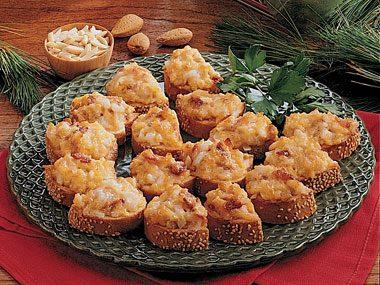 Almond Cheddar Crostinis