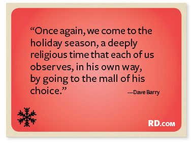 Dave Barry with a Christmas Quote