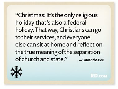 Samantha Bee with a Christmas Quote
