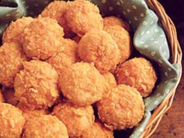 Crispy Ham and Cheese Balls