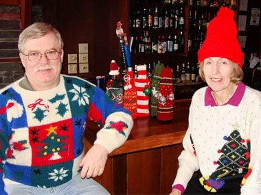 Ugly Christmas Couple Goes to the Bar