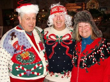 Rotary Trio Rocking the Ugly Christmas Sweaters