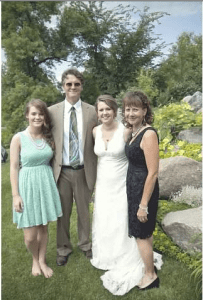 Tim O'Keefe and family at his daugther's wedding