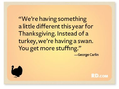 George Carlin with a Thanksgiving Quote