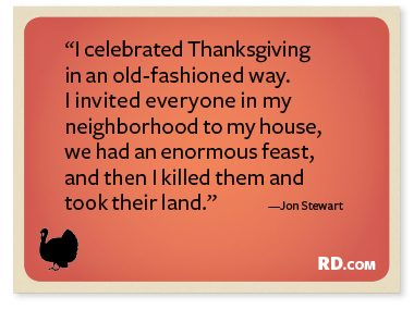 Jon Stewart with a Thanksgiving Quote
