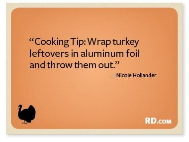 Nicole Hollander with a Thanksgiving Quote