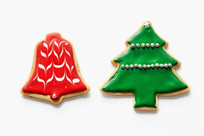 Pioneer Woman Ree Drummond's Christmas Cutouts cookies on white background