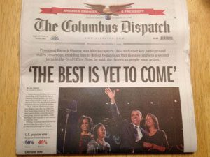 Columbus dispatch frontpage