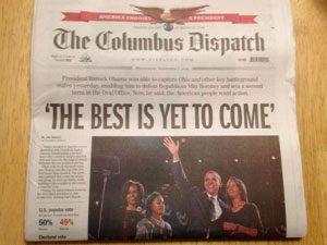 Columbus dispatch frontpage