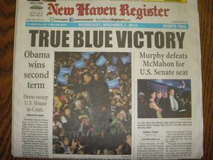 New Haven Register frontpage