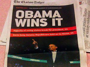 Clarion Ledger frontpage