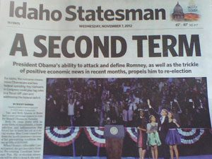 Idaho Statesman frontpage
