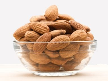 Bowl with almonds