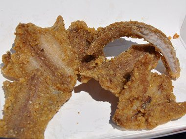 If you're in Texas, you might find: Deep-fried rattlesnake