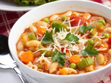 The first thing I ever cooked on camera was a minestrone soup.