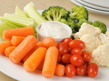 7. Zoom in on these healthy, fat releasing nutrients at the buffet: fiber, vitamin C, calcium, protein and dairy.