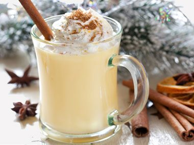 11. Pass on the eggnog and other rich drinks.