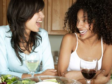 14. Party with friends, and ask them to help you keep your nibbling in check.