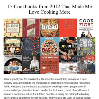 Delicious Reads: The Best Cookbooks of 2012
