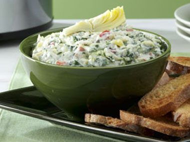 Cheese Trio Artichoke and Spinach Dip