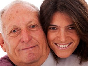 senior man with daughter