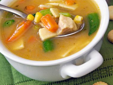 Don't ignore Nana: Chicken soup has been proven to help.