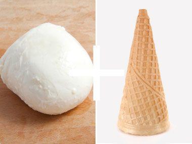 """Cheese + """"Ice Cream Cone"""" = Pizza Cone!"""