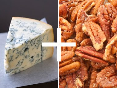 just add cheese, blue cheese and pecans