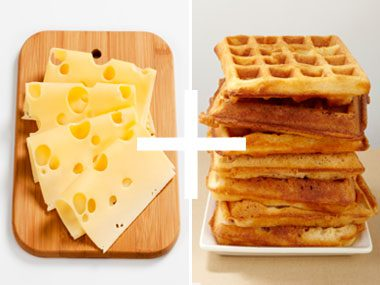just add cheese, swiss and waffles