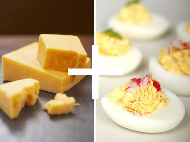 Cheese + Deviled Eggs =  Decadence